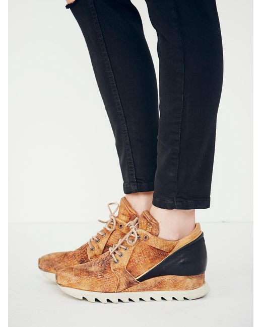 Free People - Black Stanley Woven Trainer - Lyst