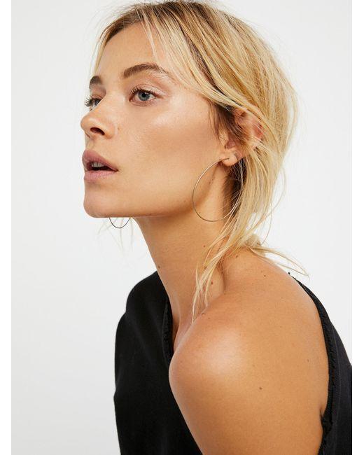 Free People - Multicolor Essential Hoop Earrings - Lyst