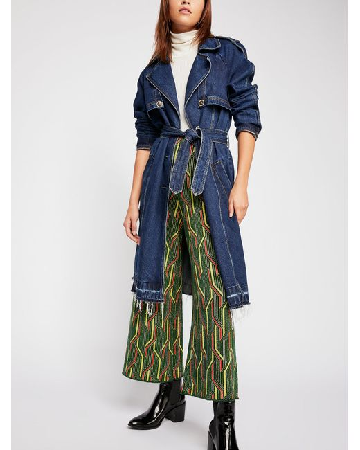 Free People - Green Alina A-line Pull-on Wide-leg Pants - Lyst