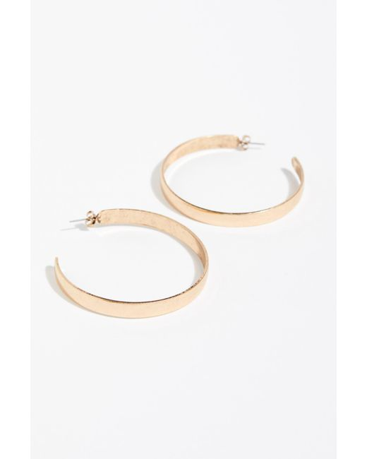 Free People - Pink Flat Edge Hoop Earrings - Lyst