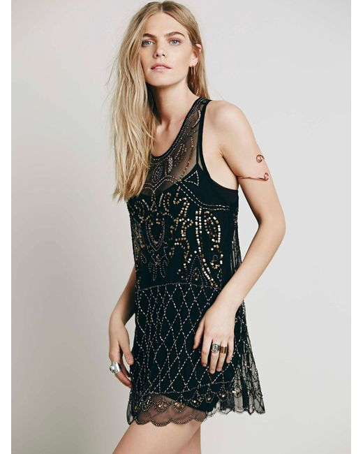Free People | Black Verona Slip Seamless Mini | Lyst