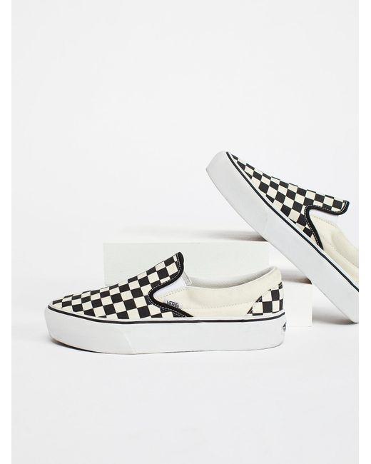 Free People - White Classic Platform Slip-on Sneaker - Lyst