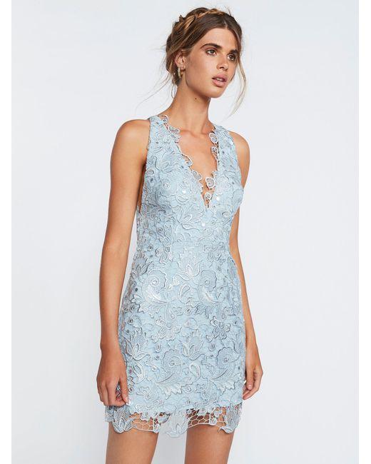 Free People | Blue Margot Lace Dress | Lyst