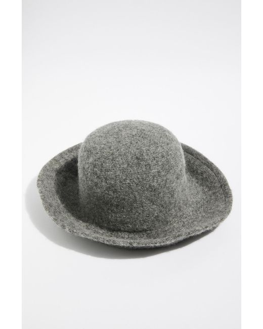 55193cf0bfbad Free People - Gray Devon Bucket Hat - Lyst ...