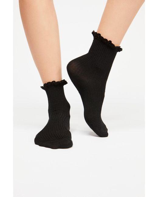 Free People - Black Bryant Heather Ankle Sock - Lyst