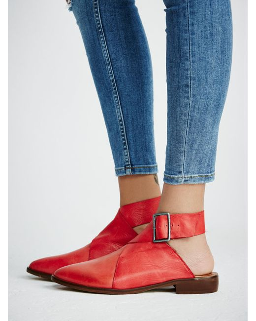 Free People Bryce Wrap Flat In Red Lyst