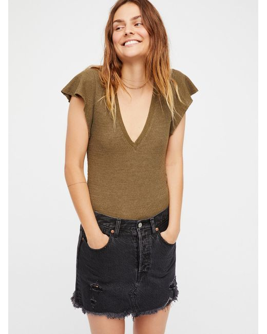 Free People | Multicolor We The Free Simone Tee | Lyst