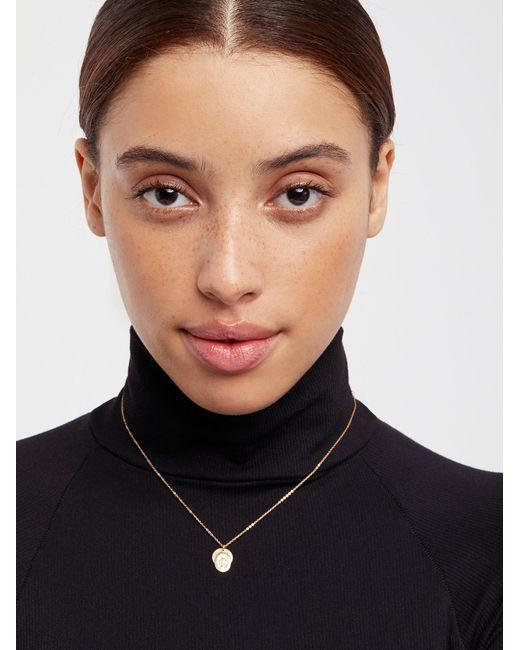 Free People - Black 14k Vermeil Vintage Charm Necklace - Lyst