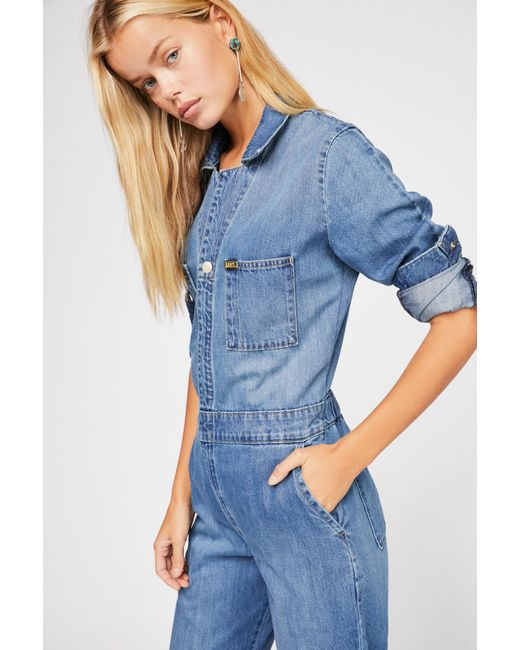 Free People - Blue Lee Union Coverall - Lyst