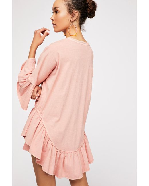 86252b32f9f ... Free People - Pink Sweetness Tunic By Fp Beach - Lyst ...