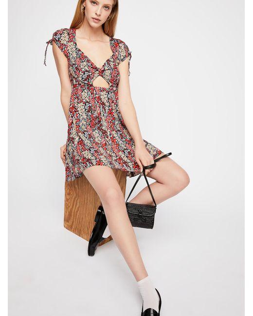 Free People - Pink Miss Right Mini Dress - Lyst