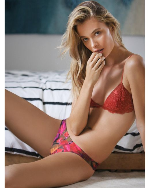 Free People | Red Essential Triangle Bra | Lyst
