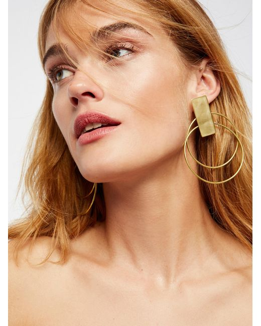 Free People | Multicolor Coasta Double Hoops | Lyst