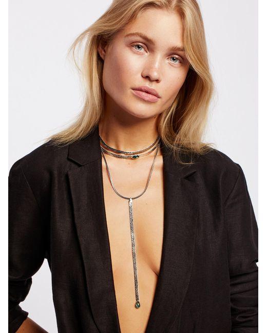 Free People | Metallic City Slicker Opal Necklace | Lyst
