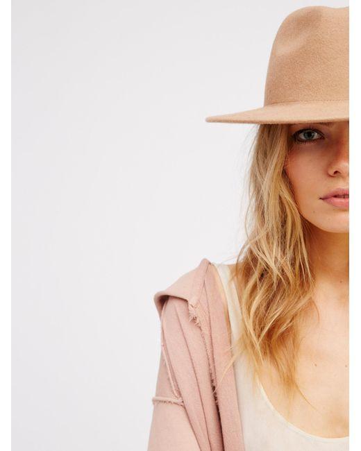 Free People | Brown Clean Slate Felt Hat | Lyst