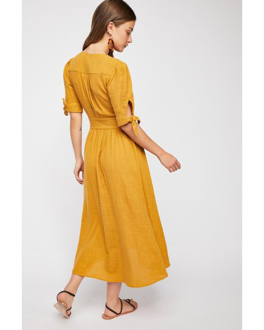 8243aaca7291 Free People - Yellow Love Of My Life Midi Dress By Endless Summer - Lyst ...