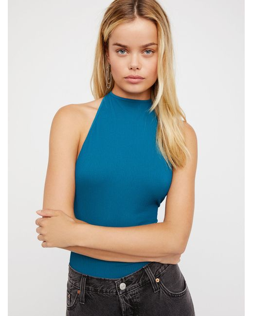 Free People   Blue Extreme T-back Seamless Cami   Lyst