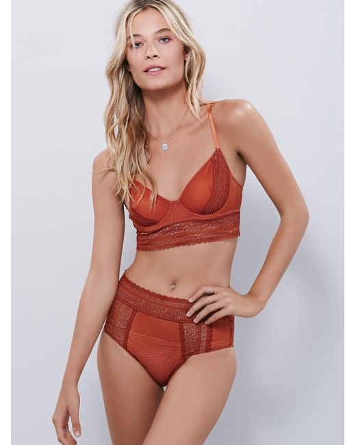 Free People - Red Get Off My Cloud Knickers Get Off My Cloud Underwire Bra - Lyst