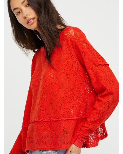 Free People | Red Not Cold In This Top | Lyst