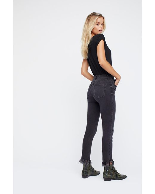 Free People - Black Great Heights Frayed Skinny Jeans By We The Free - Lyst