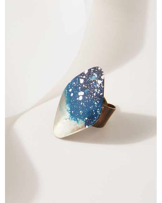 Free People | Metallic Rhombus Patina Ring | Lyst