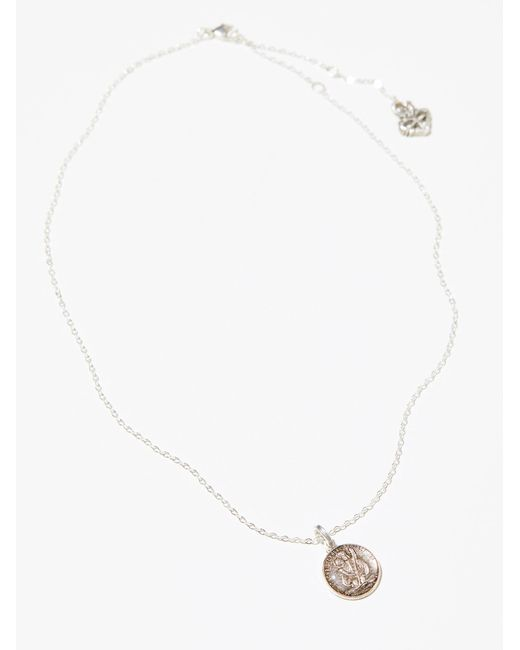 Free People | Metallic St. Christopher Necklace | Lyst