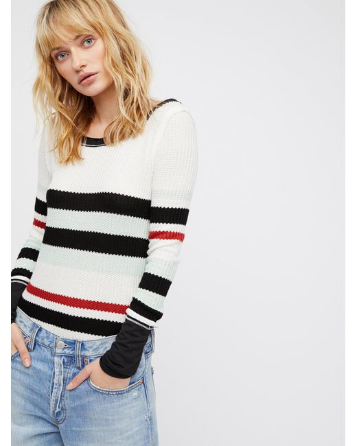 Free People | White We The Free Striped All For One | Lyst