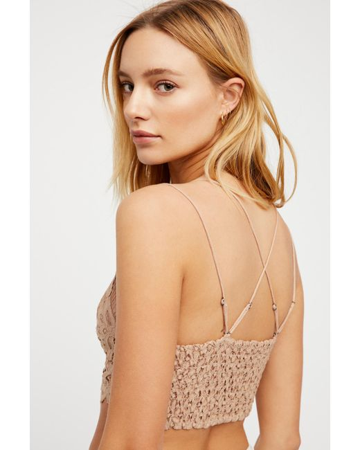6898d00df6bc5 ... Free People - Natural Fp One Adella Bralette - Lyst ...