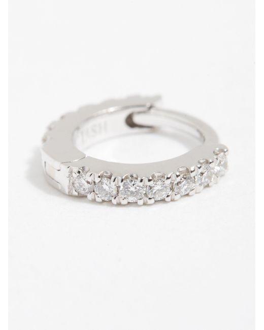 Free People - Pink 18k Diamond Helix Hoop Earring - Lyst