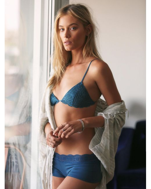 Free People | Blue Essential Triangle Bra | Lyst