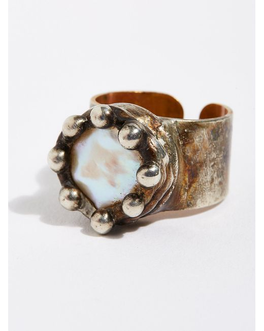 Free People - Multicolor Pearl Monarch Ring - Lyst