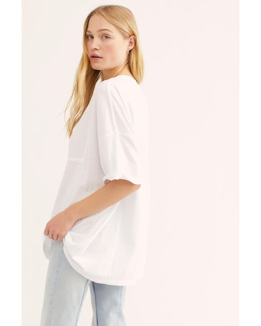 3483032cf Free People - White We The Free Patti Tee - Lyst ...