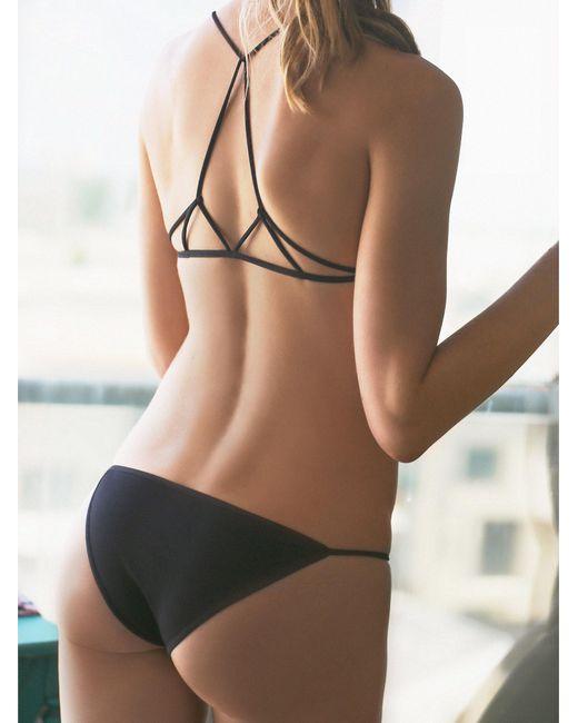 Free People | Black Super Skinny Bikini | Lyst