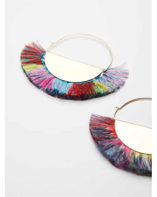 Free People | Multicolor Super Fan Flare Hoops | Lyst