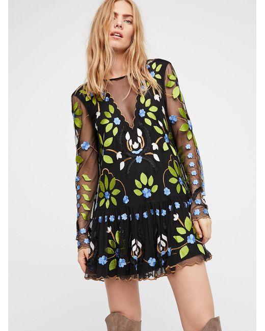 Free People   Black Hearts Are Wild Mini Dress   Lyst