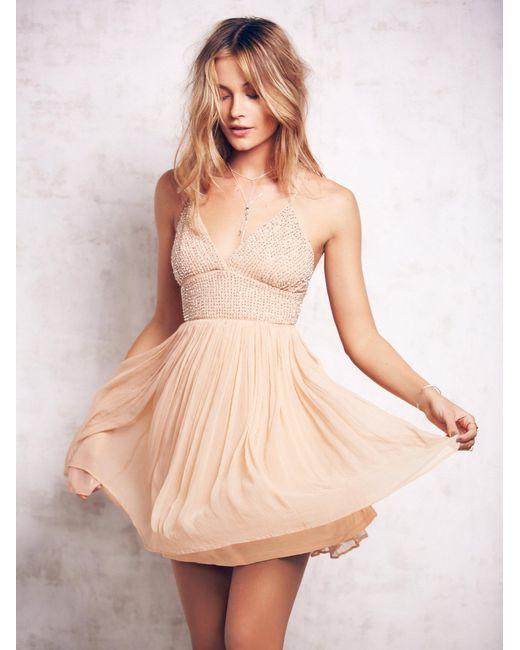 Free People | Natural Like A Diamond Chiffon Dress | Lyst