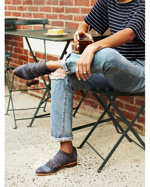 Free People | Blue Lost Valley Ankle Booties | Lyst