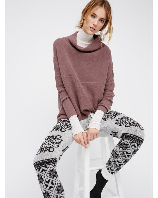 Free People | Brown Ottoman Slouchy Tunic | Lyst