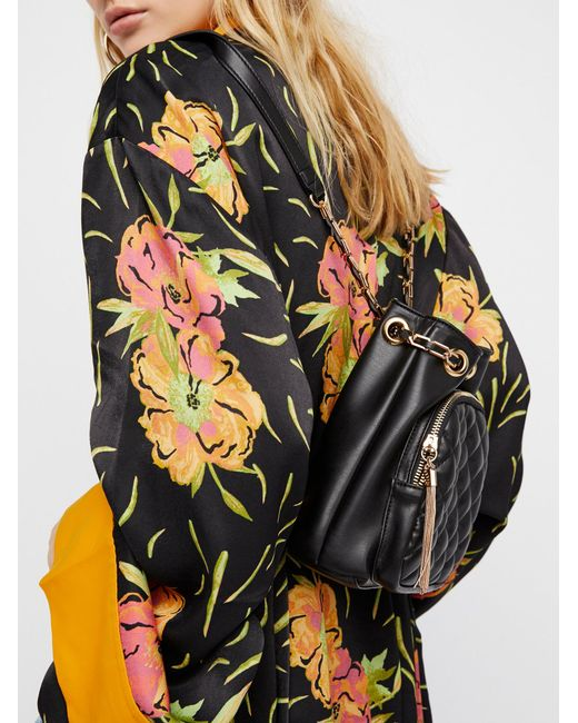 Free People | Black Quilted Chain Backpack | Lyst