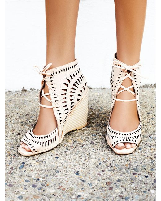 Free People | Natural Serena Wedge | Lyst