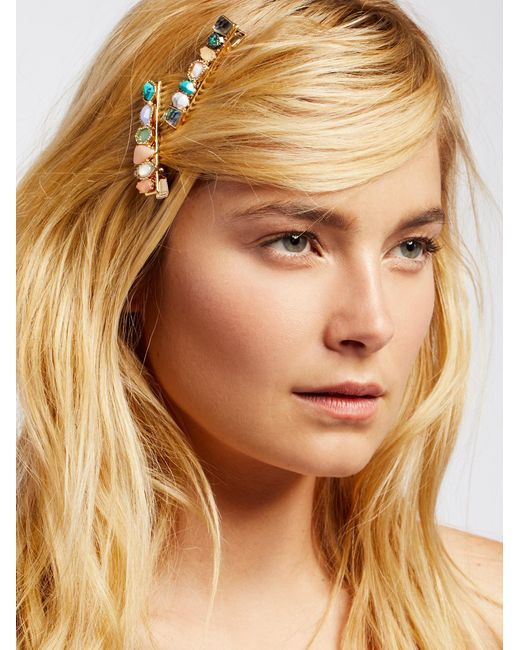 Free People | Multicolor Stone Salon Clips | Lyst