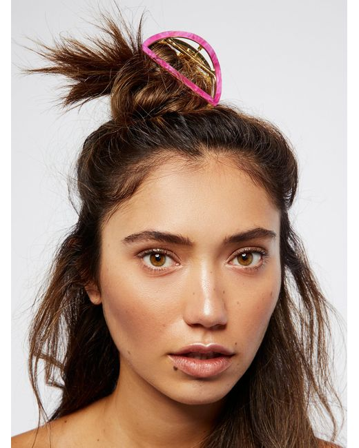 Free People | Multicolor Tort Cutout Claw | Lyst