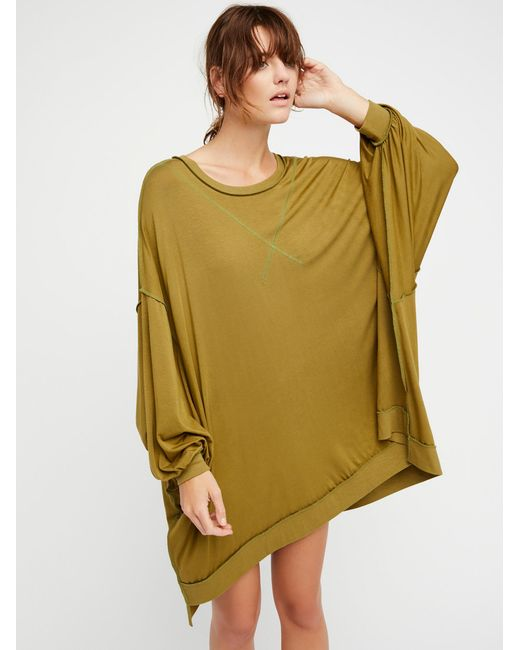 Free People | Green We The Free So Smooth Tee | Lyst