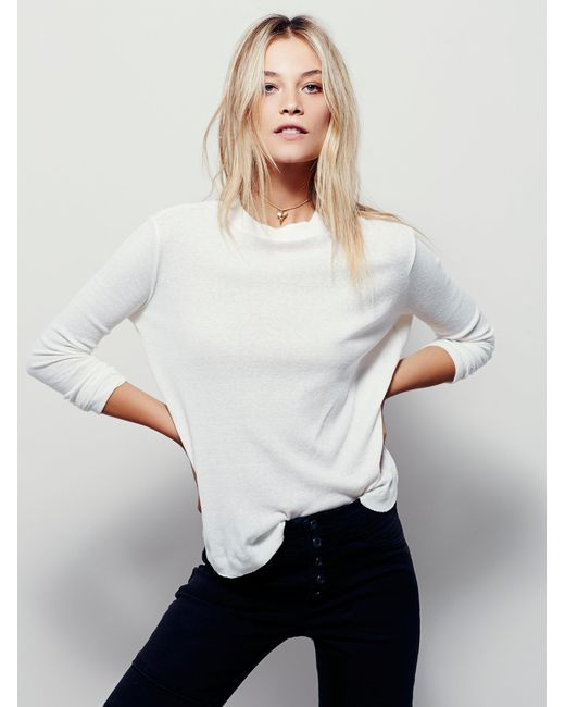 Free People | White Drippy Thermal Kristina | Lyst