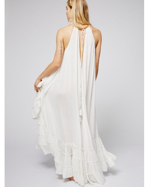 Free People Wrap Around Maxi Dress In White Lyst