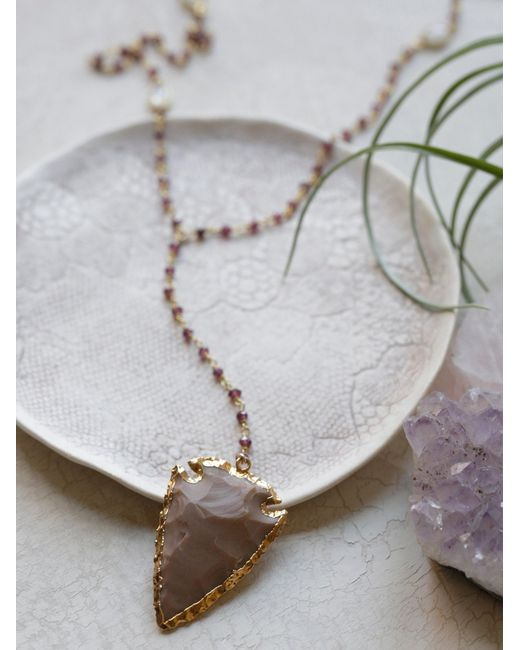 Free People | Metallic Yael Arrow Rosary | Lyst
