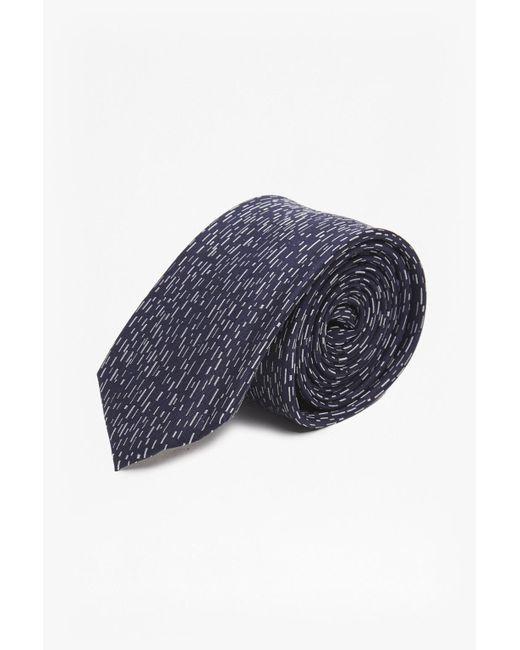 French Connection | Blue Remi Rain Dash Silk Tie for Men | Lyst