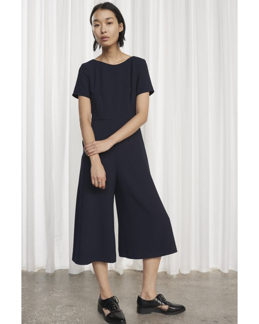 French Connection - Blue Esther Crepe Jumpsuit - Lyst