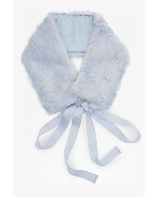 French Connection | Blue Fur Tippet | Lyst