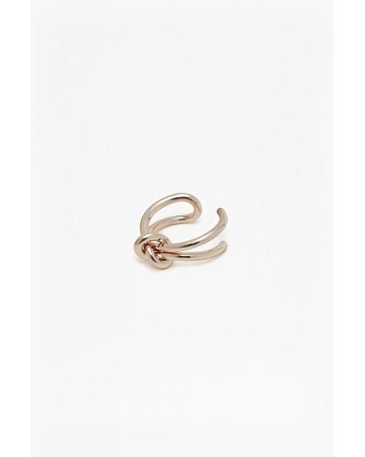 French Connection | Metallic Core Looped Knot Ring | Lyst